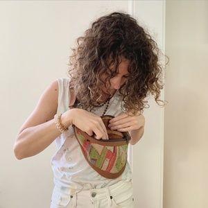 Vintage Bags - vintage • woven fanny pack